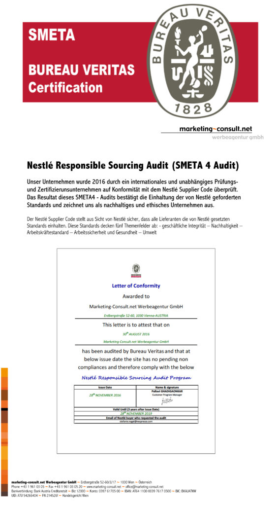 Nestle Responsible Sourcing Audit